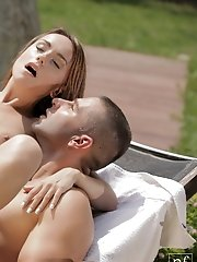 Sensual Leyla Black and her lover delight each other with their mouths before indulging in an outside fuck fest